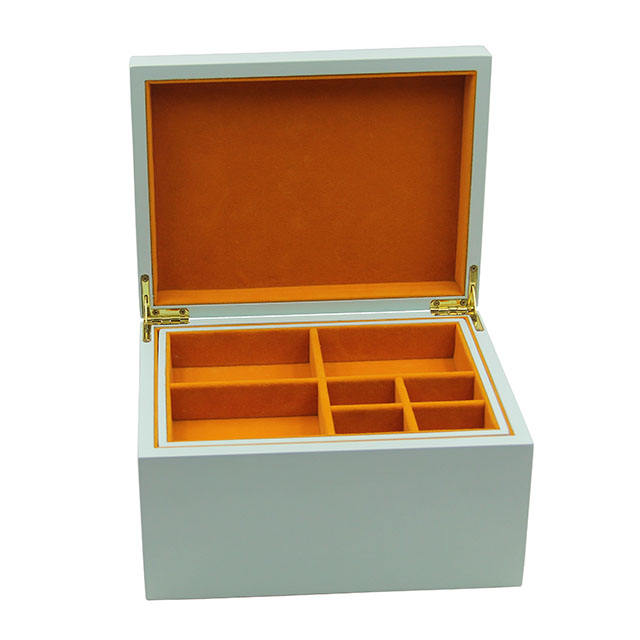 Hot sale wooden jewelry boxes elegant storage Double large capacity