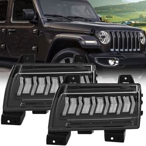 For 2018 JL Wrangler Fender LED Daytime Running Light Sequential Turn Signal for Jeep JL Drl Fender Light Sports