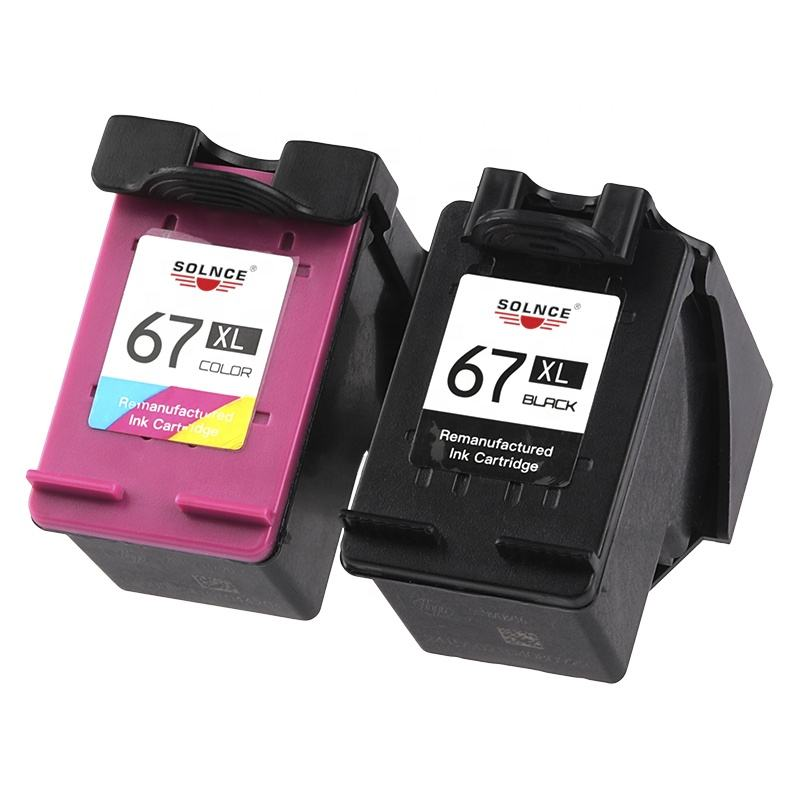 Replacement for HP 67 67XL 3YM56AN 3YM55AN Ink Cartridge Envy 6052 6055 6058 Remanufactured Ink Cartridge