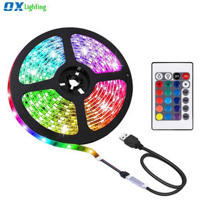 USB Led franja de 5v RGB 5050 Fondo Luces Color impermeable computadora TV Led tiras de 1M 2M controlador remoto