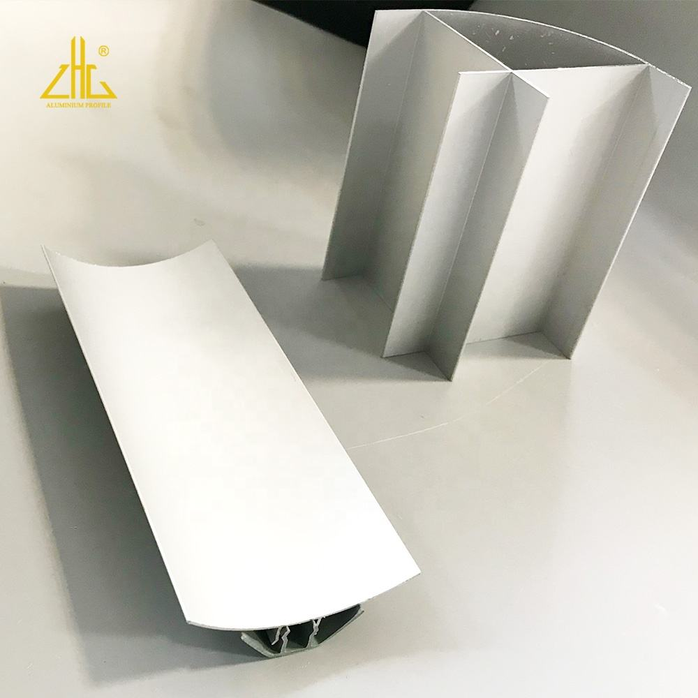 White anodized aluminum supplier clean room OEM supplies square rounded corners as connect aluminium profiles