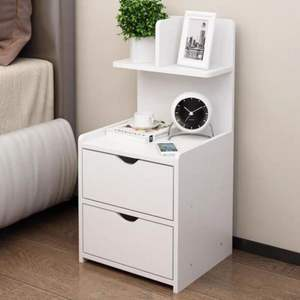 Wood cheap bedroom bedside table cabinet cupboard white nightstand furniture