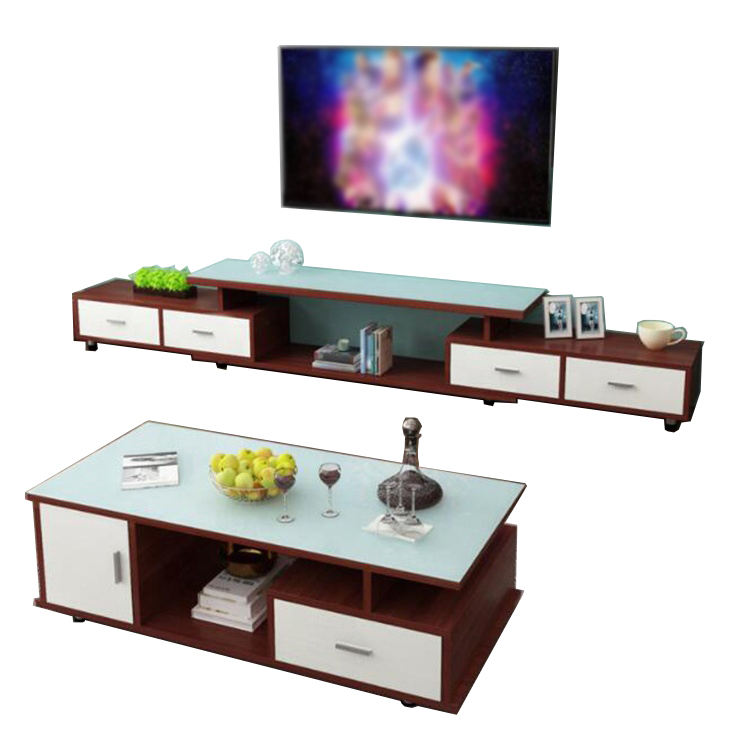 Simple Modern Living Room Furniture Creative Tempered Glass TV Stand
