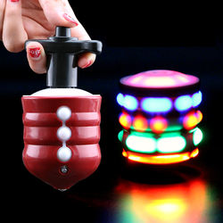 Kids Hobbies Classic Toys wholesale children funny flash led music spinning top light up toy for kids