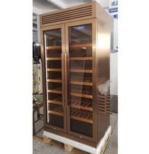 320 Count Champagne Color Stainless Steel  Active Wine Celler Modern Furniture Wine cooler