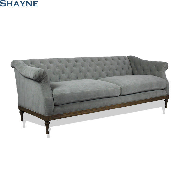 300000 SKU ODM Shayne Luxury High-end Customize Furniture 1+2+3 Seater baroque Track Arm Sofa