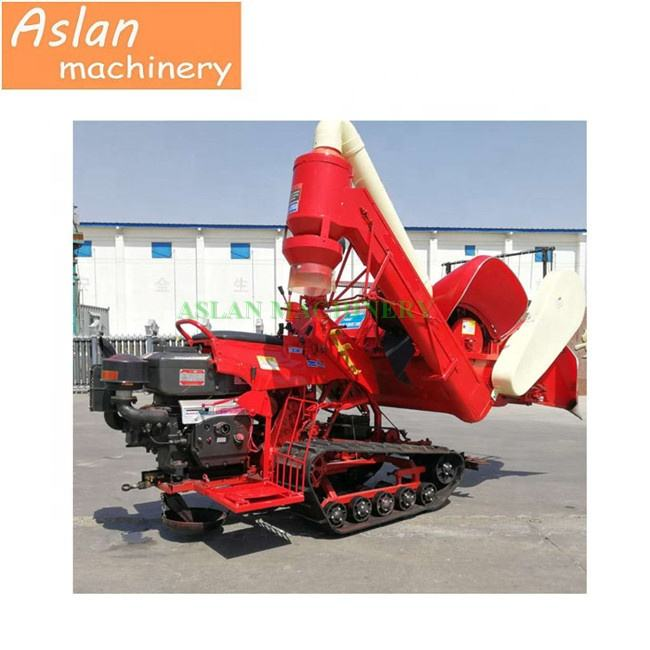 Factory price small crawler harvester for straw/ hard work agricultural rice wheat straw harvesting machine