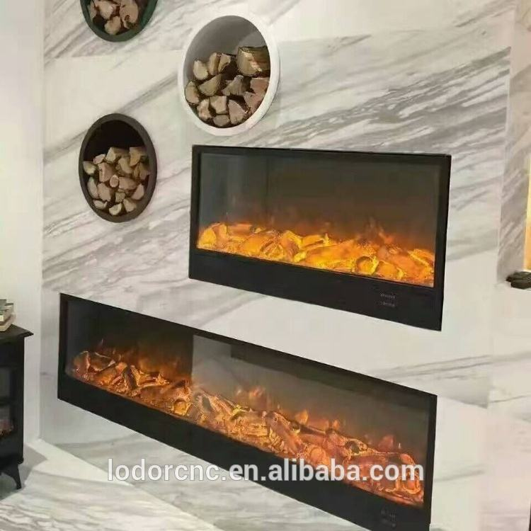 best quality and cheap price insert / built-in wall remote control LED electric fireplace