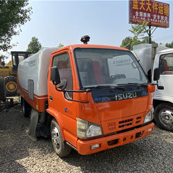 Good cleaning effect street, iuszu sweeper truck, road washing and sweeping truck