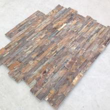 Rusty Quartz Nature Culture Stone for Home Decoration Stacked Slate z shape Wall Cladding for wall panel
