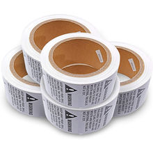 Wholesale custom logo thermal transfer paper roll safety warning sticker labels