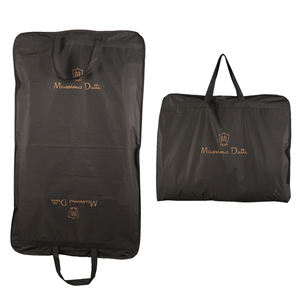 Cheap Wholesale Promotional Custom Material and Sizes Luxury Man Suit Cover Bag Non Woven Garment Bags with Label Pocket