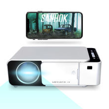 Hot Sale HD Wifi Wireless Smart Android Projector 3000 Lumens 1280*720p proyector LED  T6 Home Theater Movie LED Projectors T6