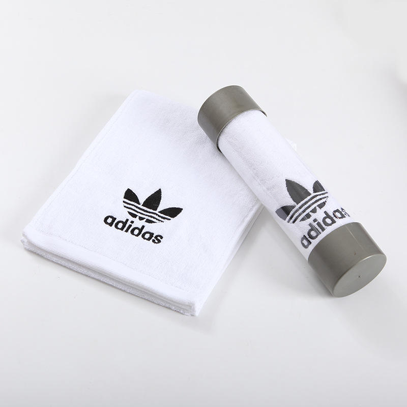Wholesale Sport Towel Plastic packaging Fitness Gym Cotton Towel Custom Logo Gift Box Sports Towel