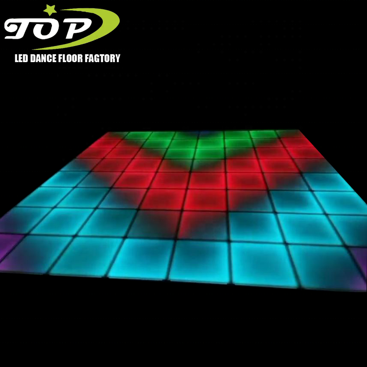 Outdoor Magnetic illuminated Led Wedding Sensitive Dance Floor Lights Hire