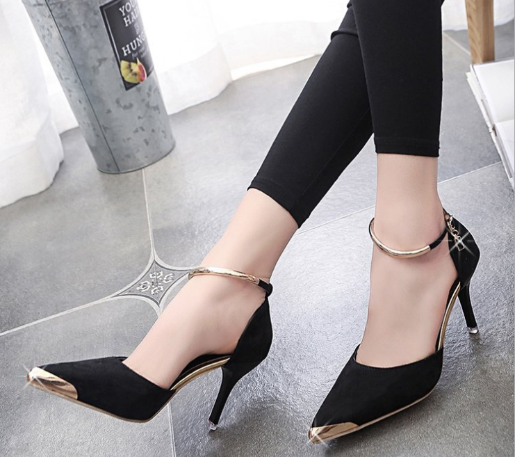 2019 New Fashion Ladies Women Sexy Light High Heel Shoes Pointed Toe Hoof Heels High Heel Pumps