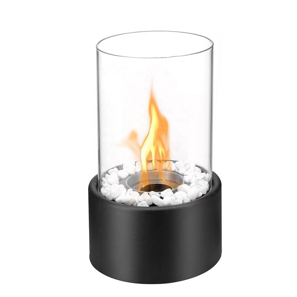 round tabletop bio ethanol fireplace