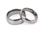 Wedding ring set made of tungsten his and hers dome finish blank tungsten infinity ring set