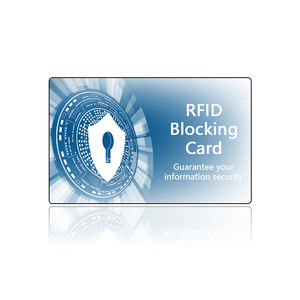 Custom 85.5*54*0.76 Mm Size Nfc Bescherming Debit Card Stoorzenders Data Anti Diefstal Rfid Blocking Card