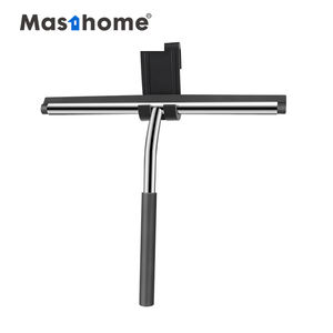 Masthome Durable Shower Car Clean Wiper Glass Cleaning Handle Rubber Shower Stainless Steel Silicone Cleaner Window squeegee