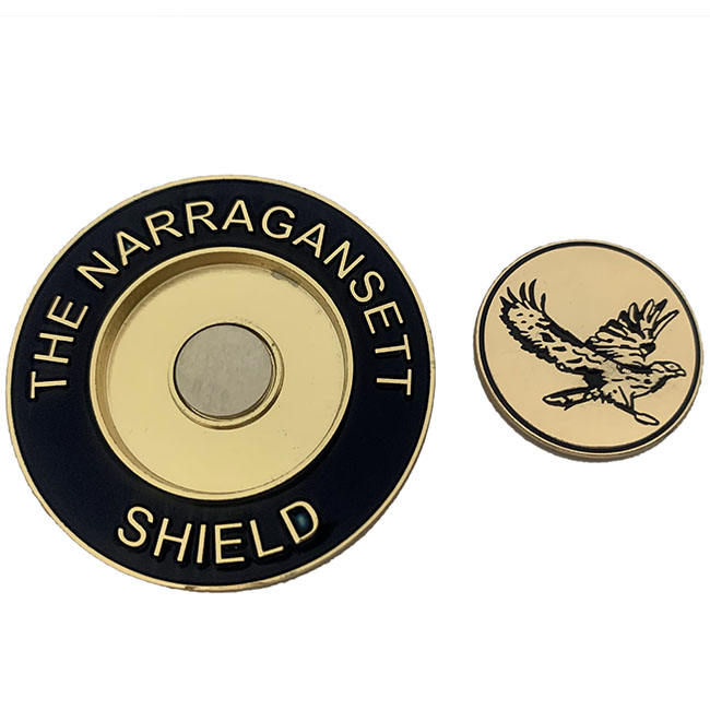 High quality custom magnetic golf ball marker challenge coins