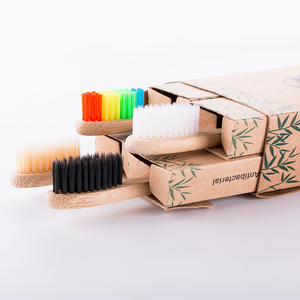 100% Natural Eco Friendly Reusable Biodegradable Organic Bamboo Toothbrush With Logo