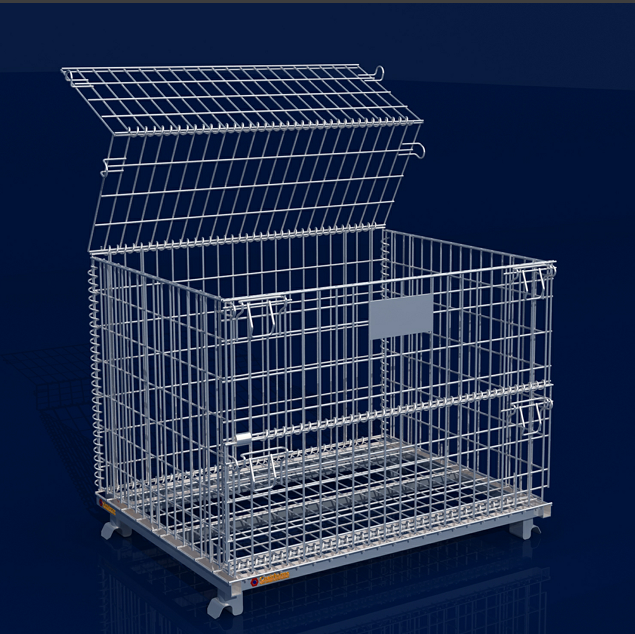 wire mesh storage boxes foldable storage cage