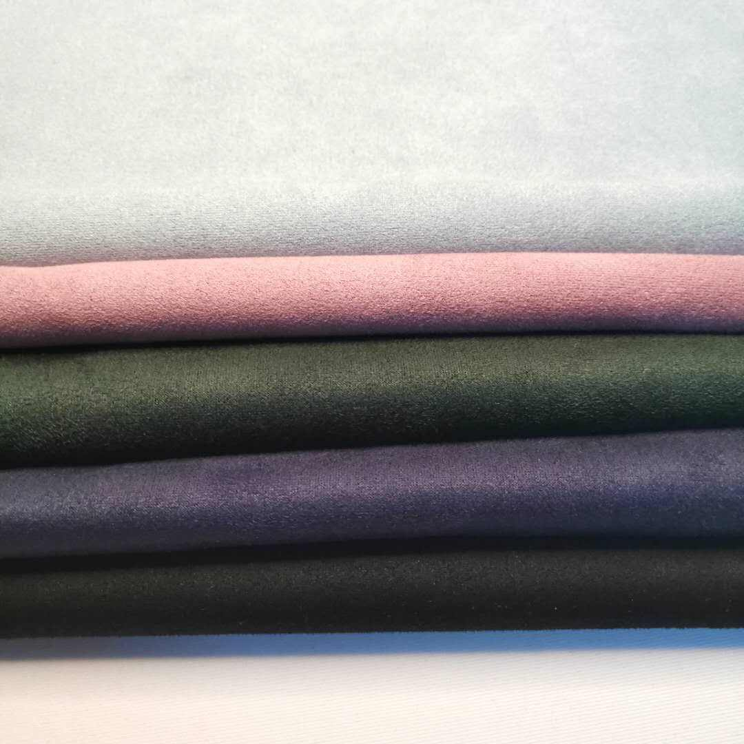 New Fashion Knitting microfiber Polyester Plain Dyed Scuba Suede Fabric brushed