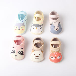 Cute newborn design cartoon indoor floor anti-slip warm cotton baby toddler slipper socks