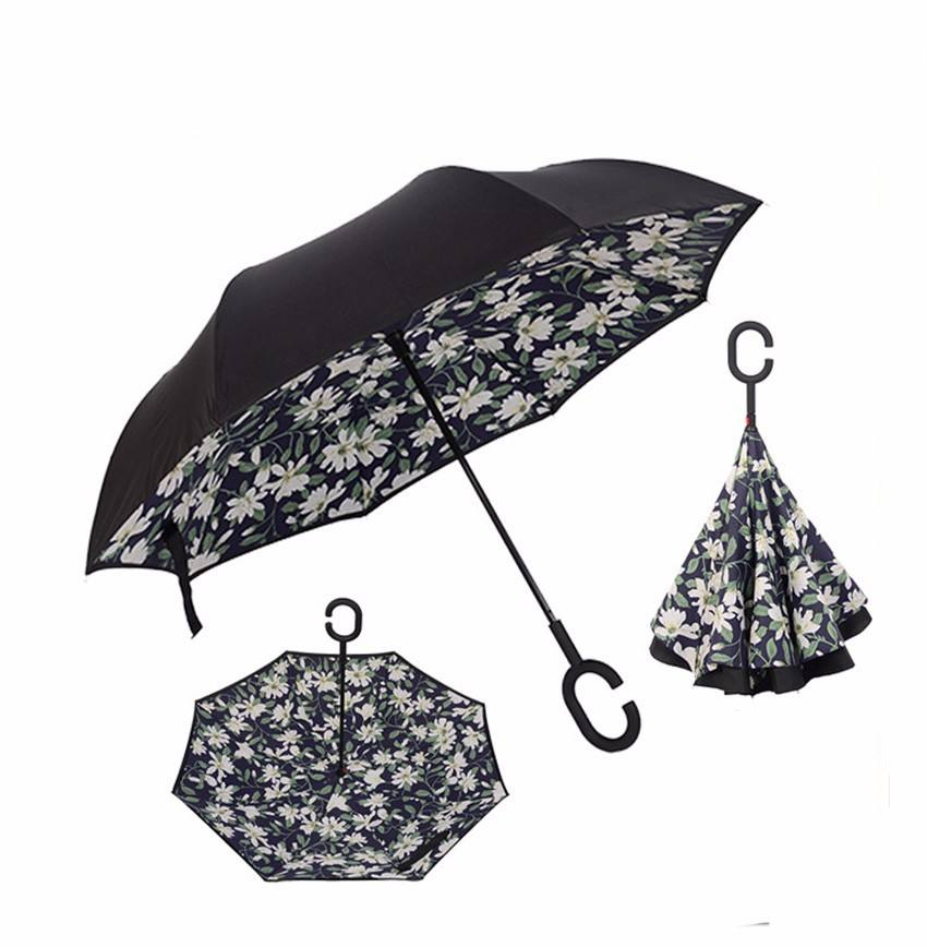 23 Inch 8 Ribs Double Sided Free Standing Inverted Umbrella OEM