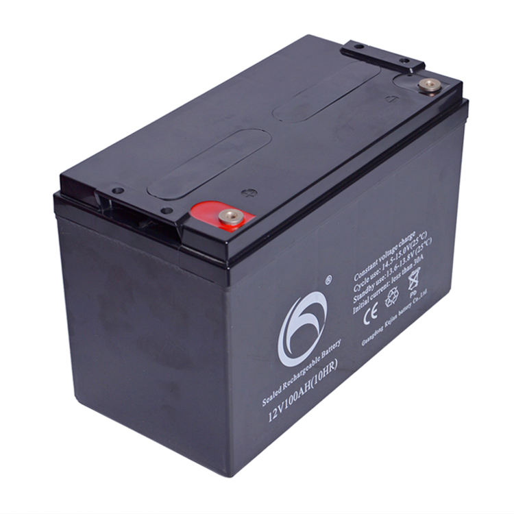 Guangdong Kejian Reahcrgeable Solar Batteries VRLA( low explosion rate) 12V 100AH Gel Deep Cycle Battery