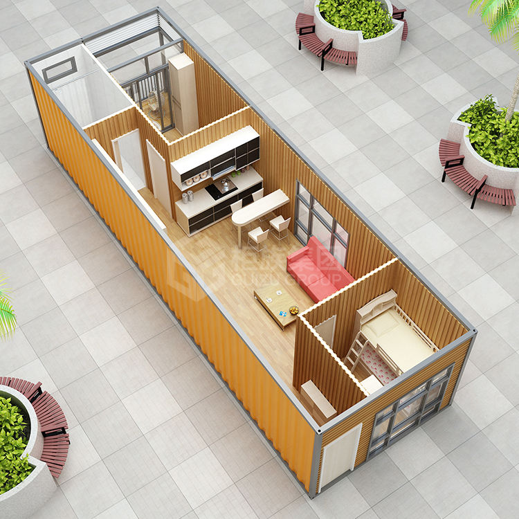 Custom 40ft two bedroom 4 bedroom assembly container house 2 bedroom prefab house container in thailand
