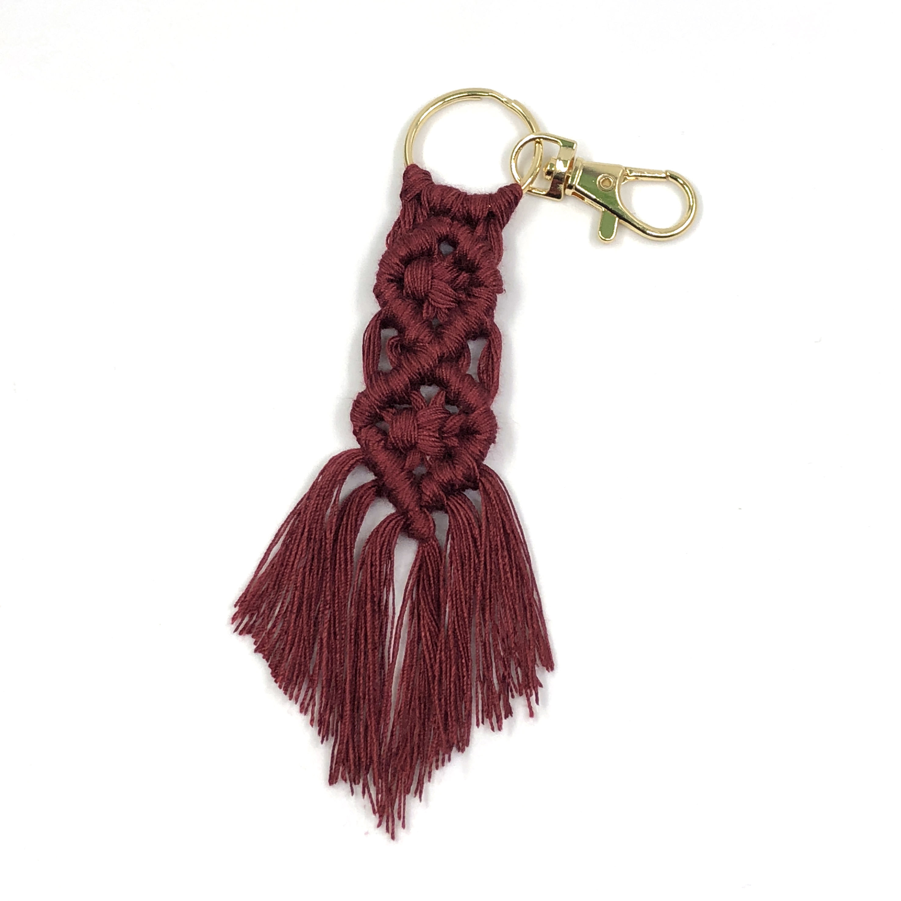 2020 Handmade Cotton Macrame Woven Rope Vintage Braided Keychain For Women Bohemia Tassel Keychain Bag Accessories