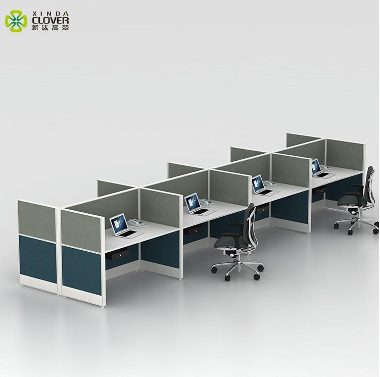 Modern office furniture call center cubicle workstation 8 person workstation