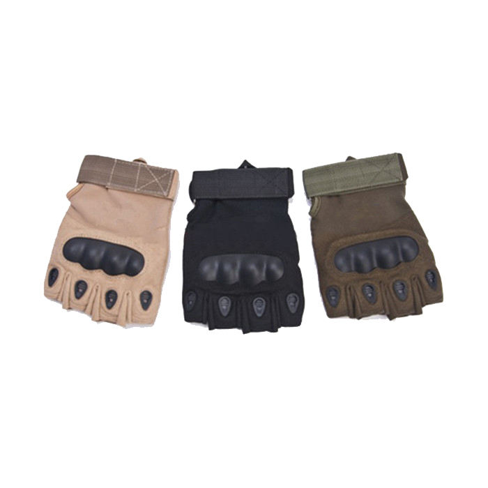 Half Finger Hand Protection Gloves Hard Knuckle and Foam Protection Military Gloves