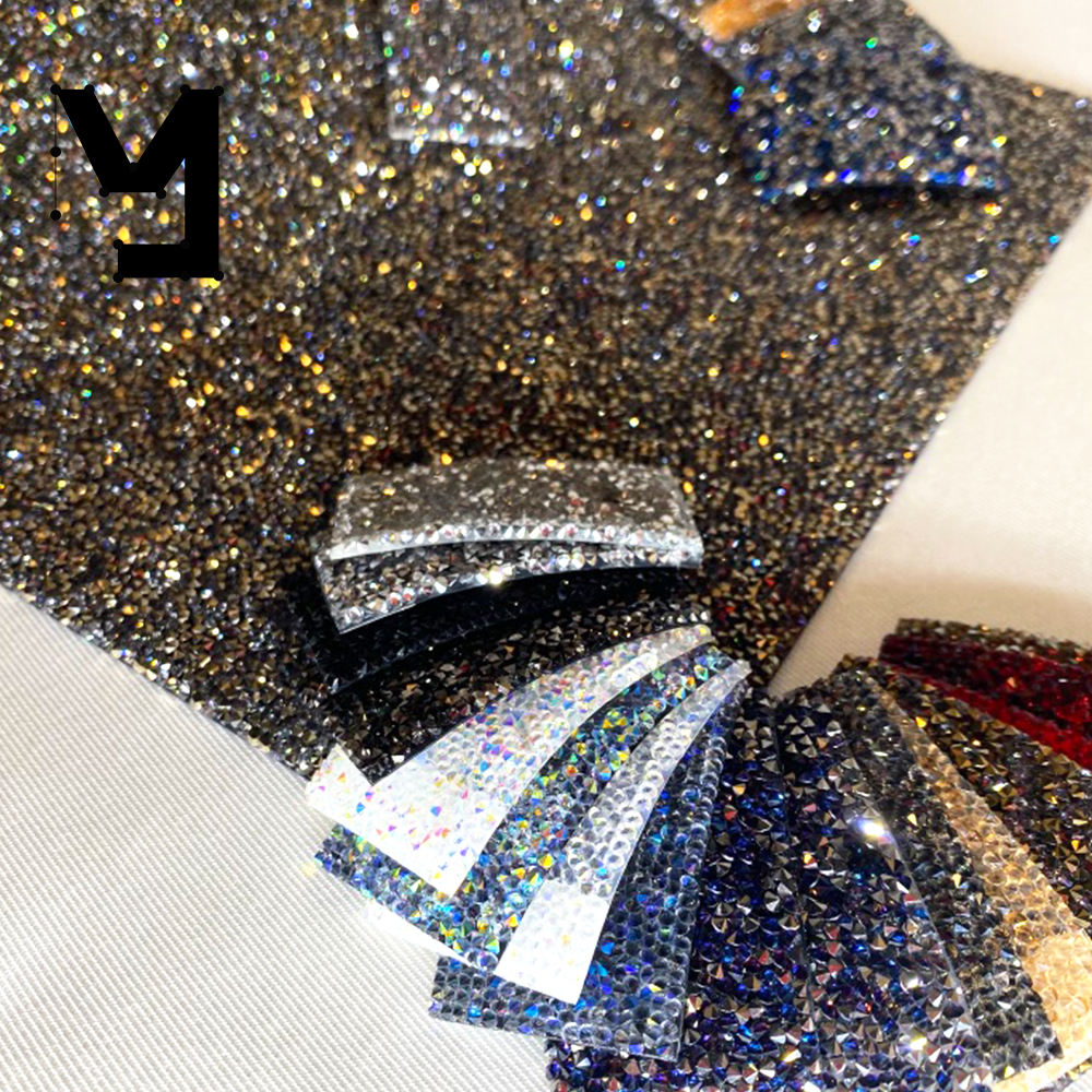 修正プログラムGarments Accessories Rhinestone Mesh Fabric Synthetic Rhinestone Mesh Panelバッグ