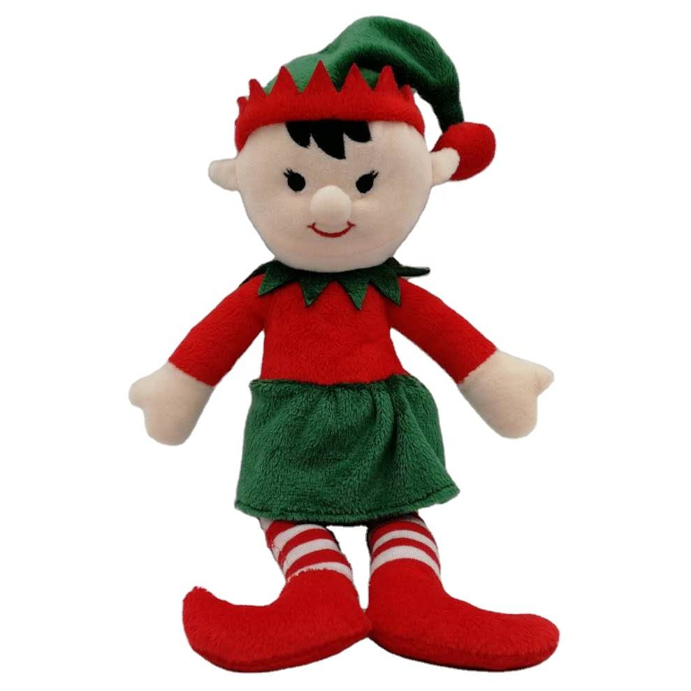 Hot selling children gift high quality soft stuffed plush toy 12 inch cute Jolly Elf