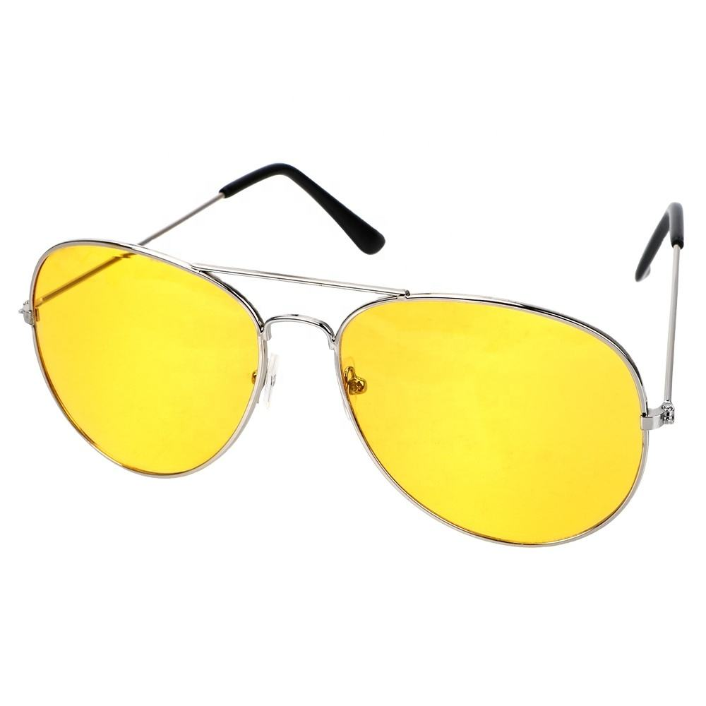 Anti-glare Polarizer Sunglasses Copper Alloy Car Drivers Night Vision Polarized Driving Glasses