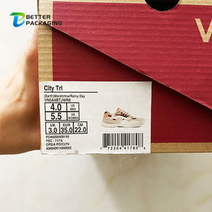 High Quality Private Brand Label Shoes Size Number Printing Customized Packaging Boots Box Sticker With Barcode