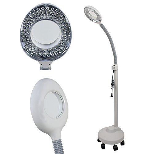 Todom Pro Facial Magnifying Lamp 5x Diopter LED Magnifier Light with Rolling Floor Stand Beauty Salon lamp