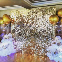 Sliver Sequin Wall  Panel  Backdrop  For Wedding