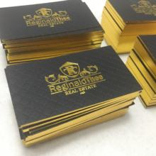 Custom Luxury Shiny Edge Gold Foil Printing Logo Paper Business Card