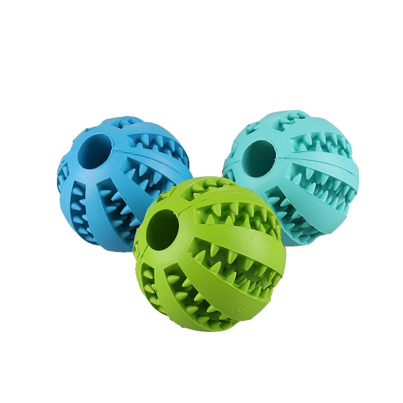 Rubber Pet Cleaning Balls Toys Ball Chew Toys Tooth Cleaning Balls Food Dog Toy