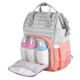 Hot selling stripe mummy daddy outdoor travel baby backpack female wholesale durable diaper bag for baby