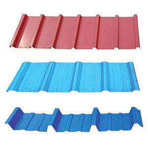 Building Roofing Material color Coated Corrugated Steel Sheets PPGI roofing sheets