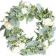 Spring full artificial silver dollar eucalyptus wreath with rose flowers wall wedding decor supplies wholesale front door wreath