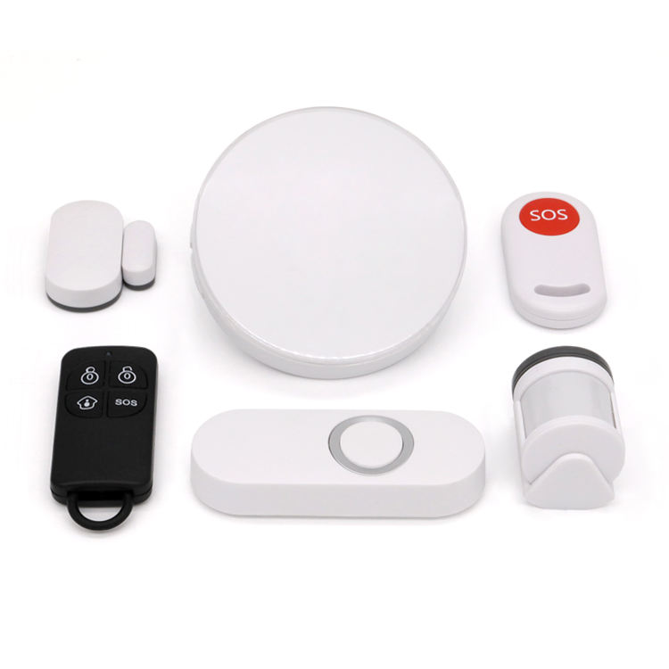 WiFi APP control smart home security alarm wireless PIR window door sensor proximity warning and alert system