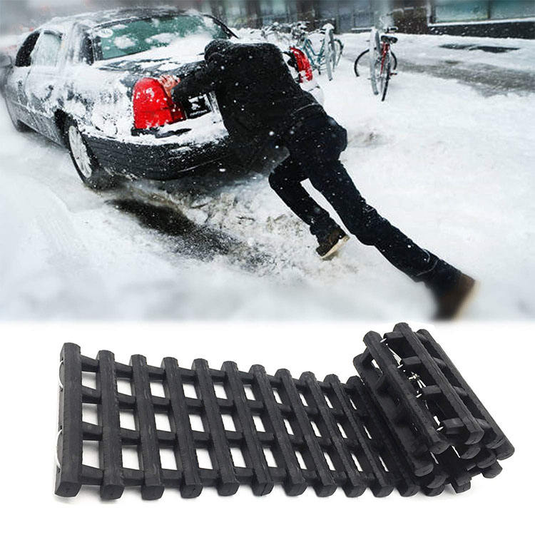 Tyre Grip Mud Rescue Van Snow x2 Orange Folding Traction Track Mats