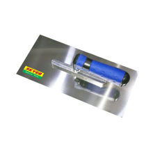 2-COLOR PLASTIC HANDLE STAINLESS PLASTERING TROWEL