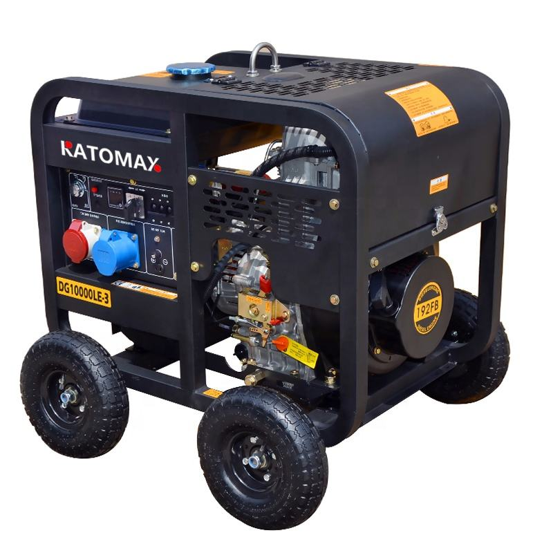 new type single/ three phase equal power portable 6kva7kva diesel generator open frame with big wheels